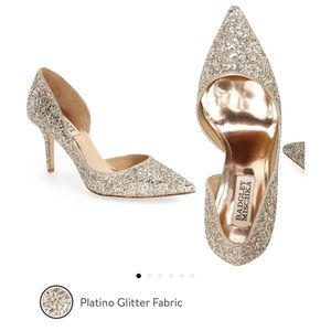 Badgley Mischka Glitter Pump